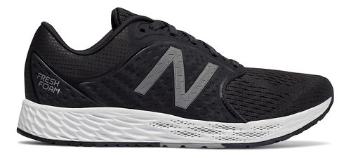 Womens New Balance Fresh Foam Zante v4 Running Shoe - Black/Silver 12