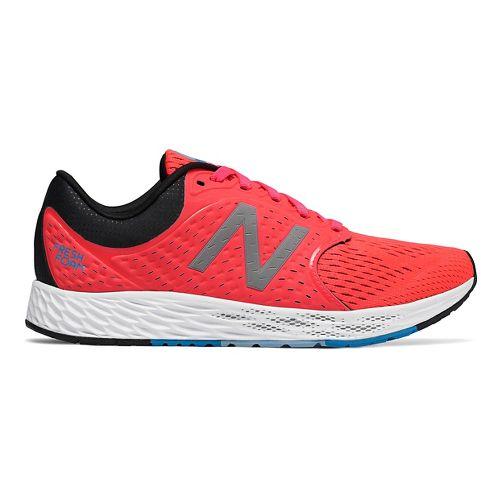 Womens New Balance Fresh Foam Zante v4 Running Shoe - Black/Silver 7.5