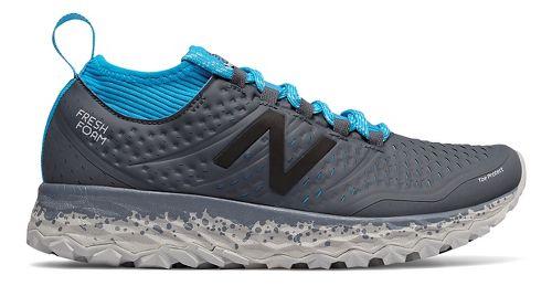 Womens New Balance Fresh Foam Hierro v3 Trail Running Shoe - Grey/Blue 10.5