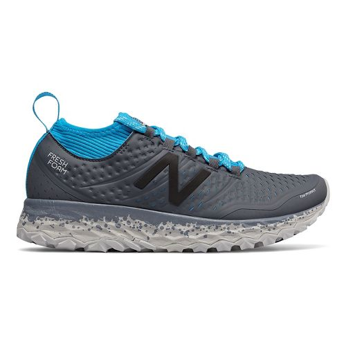 Womens New Balance Fresh Foam Hierro v3 Trail Running Shoe - Grey/Blue 9