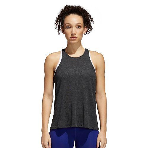 Womens adidas Performance Open Back Sleeveless & Tank Technical Tops - Black/White M