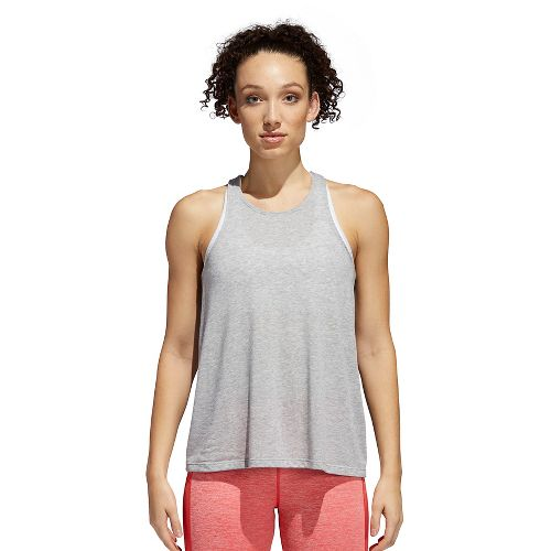 Womens adidas Performance Open Back Sleeveless & Tank Technical Tops - Medium Grey Heather L