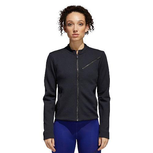 Womens Adidas Performance Moto Casual Jackets - Black/Carbon M