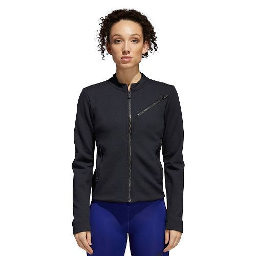 Womens Adidas Performance Moto Casual Jackets - Black/Carbon S