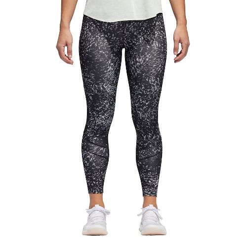 Womens adidas How We Do Printed 7/8 Tight Crop Pants - Black S