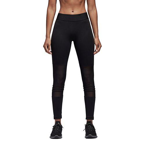 Womens adidas ID Mesh Tights & Leggings Pants - Black XL