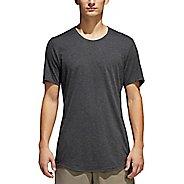 Mens adidas Supernova Short Sleeve Tee Technical Tops - Dark Grey Heather M