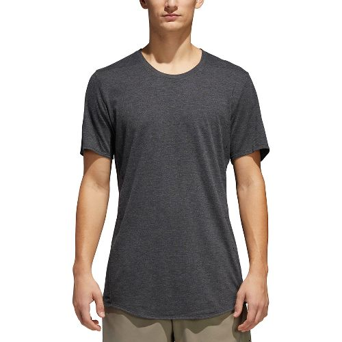 Mens adidas Supernova Short Sleeve Tee Technical Tops - Dark Grey Heather L