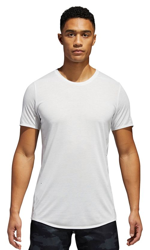 Mens adidas Supernova Short Sleeve Tee Technical Tops - Crystal White S