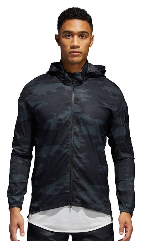 Mens adidas Supernova TKO Running Jackets - Carbon/Black M
