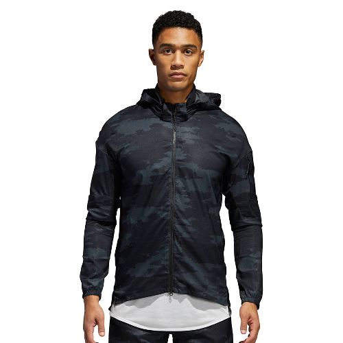 Mens adidas Supernova TKO Running Jackets - Carbon/Black L