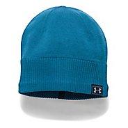 Mens Under Armour ColdGear Reactor Knit Beanie Headwear - Bayou Blue