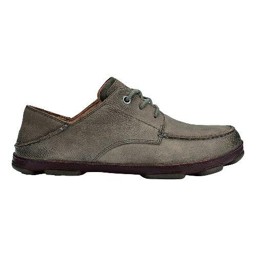 Mens OluKai Hamakua Poko Casual Shoe - Storm Grey/Dark Wood 9