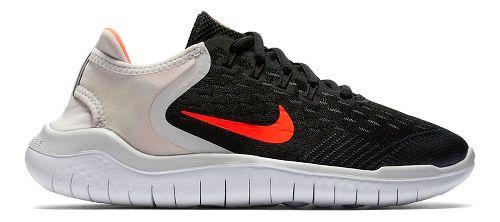 Kids Nike Free RN 2018 Running Shoe - Black/Crimson 7Y