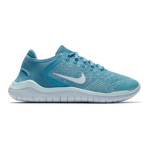 Kids Nike Free RN 2018 Running Shoe - Aqua 5Y
