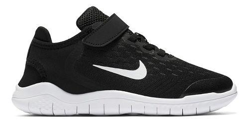 Kids Nike Free RN 2018 Running Shoe - Black/White 2Y