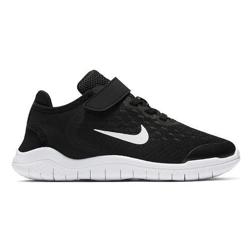 Kids Nike Free RN 2018 Running Shoe - Black/White 11C