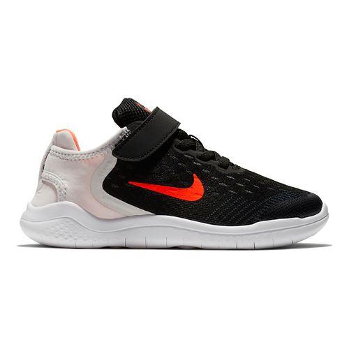 Kids Nike Free RN 2018 Running Shoe - Black/Crimson 12C