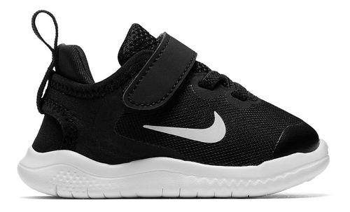 Kids Nike Free RN 2018 Running Shoe - Black/White 9C