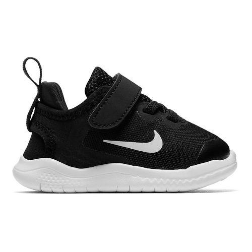 Kids Nike Free RN 2018 Running Shoe - Black/White 6C