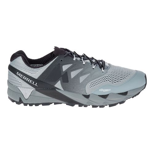 Mens Merrell Agility Peak Flex 2 E-Mesh Trail Running Shoe - Grey 7.5