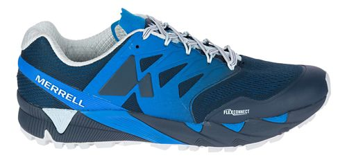 Mens Merrell Agility Peak Flex 2 E-Mesh Trail Running Shoe - Blue 9.5
