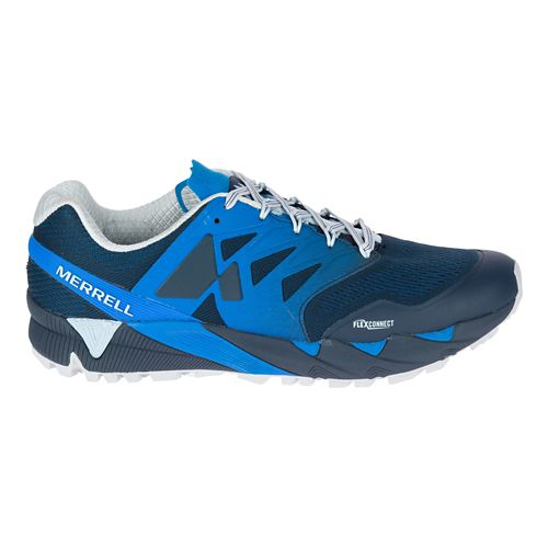Mens Merrell Agility Peak Flex 2 E-Mesh Trail Running Shoe - Blue 9.5