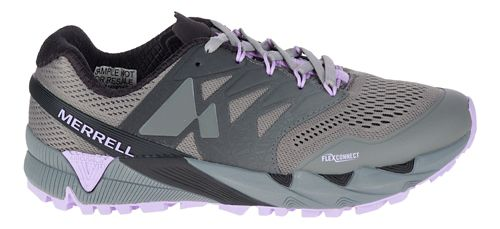 Womens Merrell Agility Peak Flex 2 E-Mesh Trail Running Shoe - Charcoal 8.5