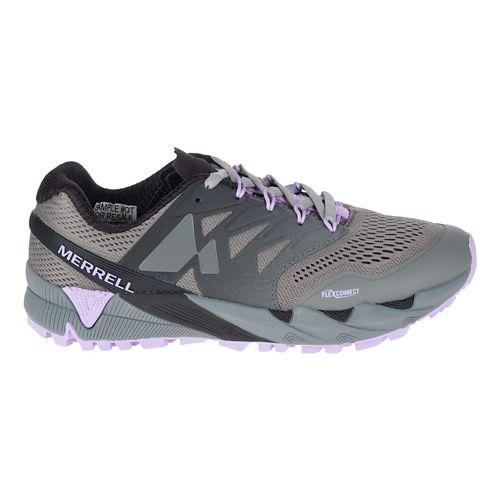 Womens Merrell Agility Peak Flex 2 E-Mesh Trail Running Shoe - Charcoal 5.5