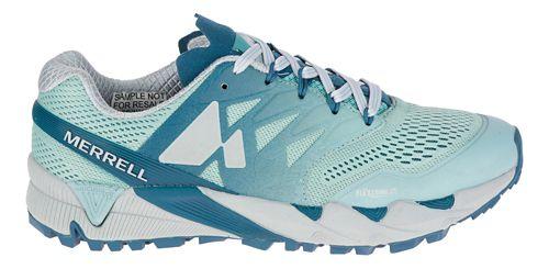 Womens Merrell Agility Peak Flex 2 E-Mesh Trail Running Shoe - Legion Blue 9.5