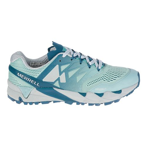 Womens Merrell Agility Peak Flex 2 E-Mesh Trail Running Shoe - Legion Blue 6.5