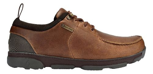 Mens OluKai Makoa WP Casual Shoe - Fox/Dark Wood 11.5