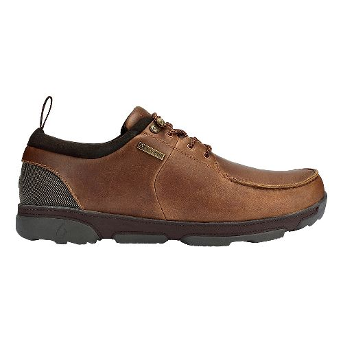 Mens OluKai Makoa WP Casual Shoe - Fox/Dark Wood 8.5