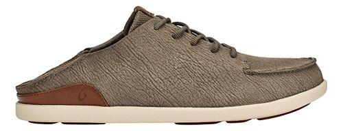 Mens OluKai Manoa Leather Casual Shoe - Clay/Toffee 9