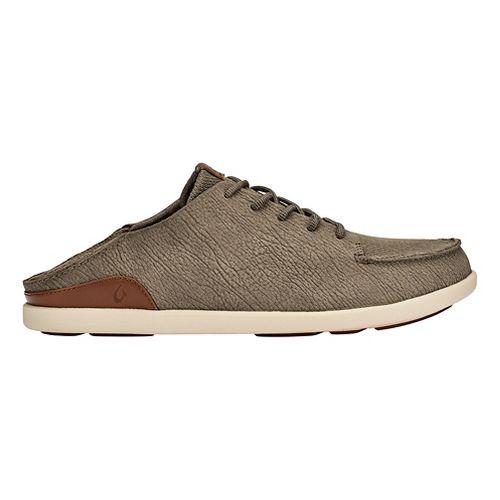 Mens OluKai Manoa Leather Casual Shoe - Clay/Toffee 8