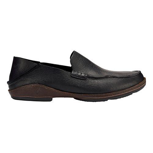 Mens OluKai Ni'o Casual Shoe - Black/Dark Wood 11.5