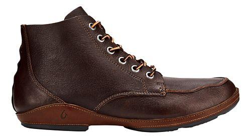 Mens OluKai Ni'o Boot Casual Shoe - Dark Wood/Rum 10