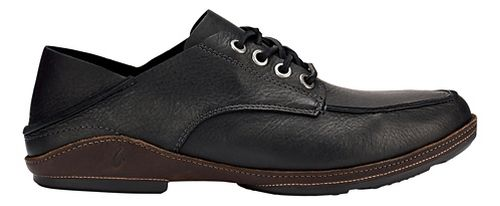 Mens OluKai Ni'o Lace Casual Shoe - Black/Dark Wood 8.5
