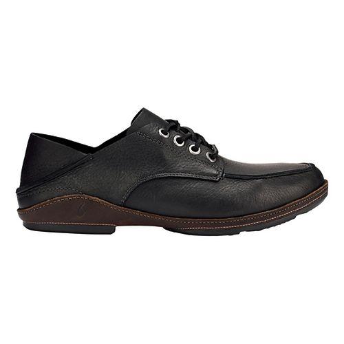 Mens OluKai Ni'o Lace Casual Shoe - Black/Dark Wood 11.5