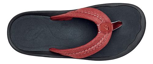 Mens OluKai Hokua Mesh Sandals Shoe - Red Mud/Dark Shadow 12