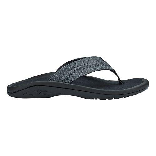 Mens OluKai Hokua Mesh Sandals Shoe - Dark Shadow 8