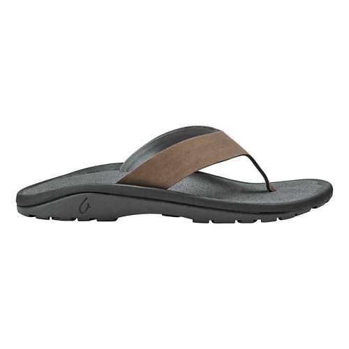 Mens OluKai Ohana Ho'okahi Sandals Shoe - Mustang/Charcoal 14