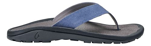 Mens OluKai Ohana Ho'okahi Sandals Shoe - Indigo/Charcoal 8