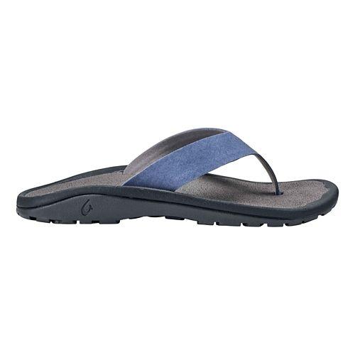 Mens OluKai Ohana Ho'okahi Sandals Shoe - Indigo/Charcoal 10