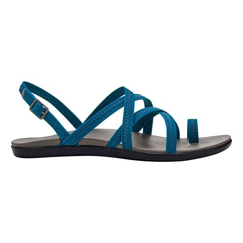 Womens OluKai Kalapu Sandals Shoe - Blue/Grey 5
