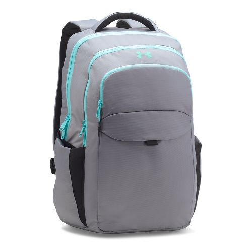 Womens Under Armour On Balance Backpack Bags - Steel/Blue Infinity