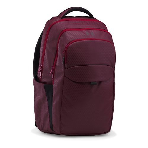 Womens Under Armour On Balance Backpack Bags - Raisin Red/Currant