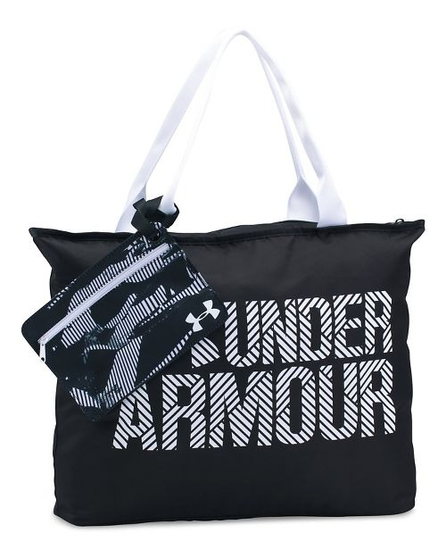 Womens Under Armour Big Wordmark Tote 2.0 Bags - Black/White