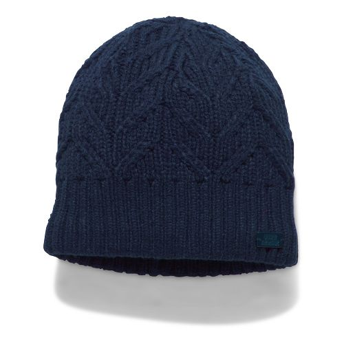 Womens Under Armour Around Town Beanie Headwear - Midnight Navy