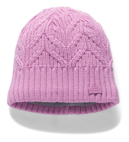 Womens Under Armour Around Town Beanie Headwear - Icelandic Rose